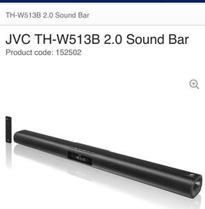 JVC TH-W513B 2.0 sound bar £59.99 @ Currys / pc world