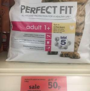 Crazy Price Perfect Fit Catfood 50p @ Sainsbury's.
