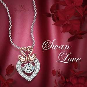 Sterling Silver Necklace for Women with Gift Box only for £14.99 (Prime) £18.98 (Non Prime) @ Sold by Dancing Heart Jewellery and Fulfilled by Amazon