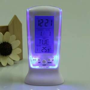 LCD Digital Alarm Clock with Temperature Display,  Calendar and more ... £2.12 delivered w/code @ Gamiss