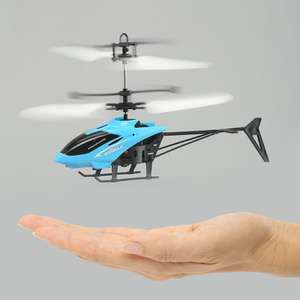 Mini Infrared Induction Flashing Light Flying Helicopter £2.12 delivered w/code @ Gamiss