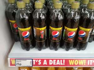 Pepsi Max Ginger 500ml, 25p in store at Poundstretcher