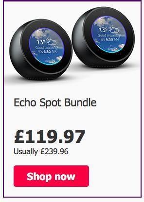 Amazon Echo Spot bundle  mis price - £119.97 @ BT Shop