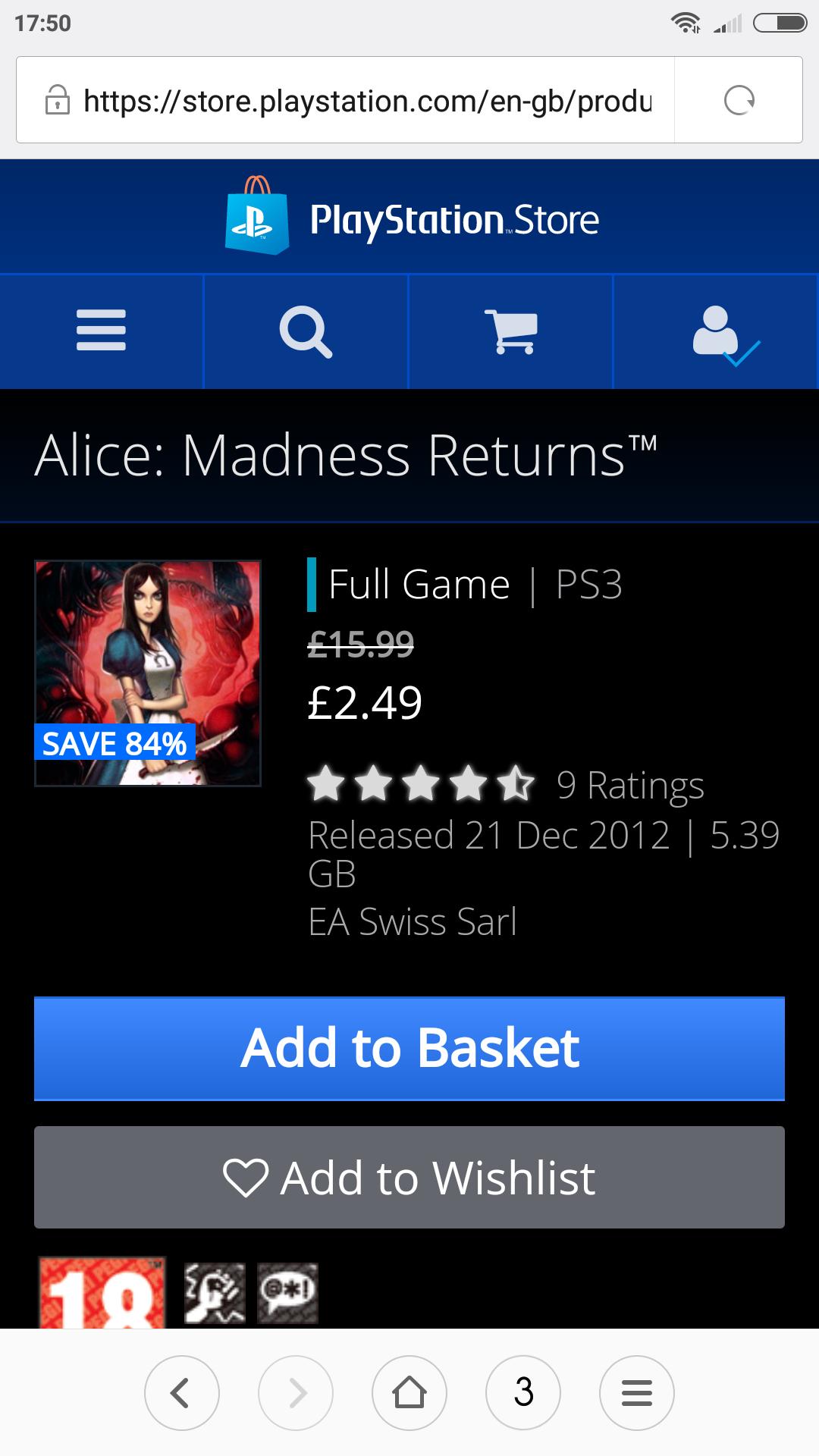 Alice: Madness Returns™Sony ps3 - £2.50 @ PSN