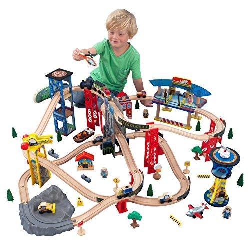 KidKraft Wooden Toy Train Set Super Highway  £39.98 @ Amazon