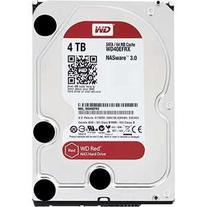 Western Digital 4TB Intellipower SATA 6Gb/s 64 MB Cache 3.5-Inch NAS Desktop Hard Disk Drive - Red - Fulfilled by Amazon for £109.43