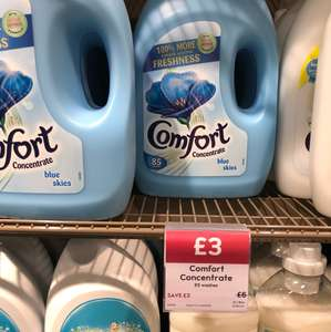 Comfort Concentrate 85 Washes Waitrose - £3