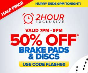 50% Off Brake Pads and Disks - Ends 9pm TONIGHT - Euro Car Parts