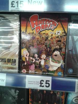 American Dad Season 12 DVD - £5 instore @ tesco