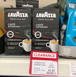 Lavazza Coffee at Co-Op reduced to £3.50 instore (Sutton Coldfield)
