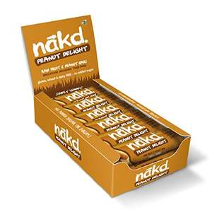 Nakd Peanut delight @ Amazon - £9.05 S&S for 18!! Or One-Time Purchase: £9.54 Prime / £14.29 non-Prime