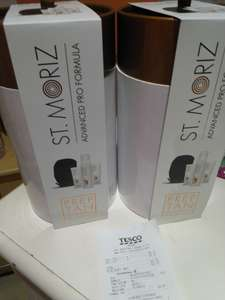 ST.MORIZ prep tan (IN STORE) @ Tesco - £1.87