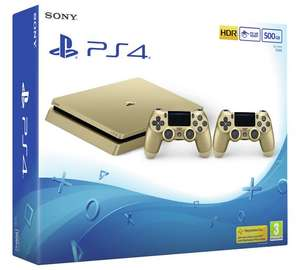 PS4 Slim console 500GB Gold with 2 Controllers - £254.99 @ Argos