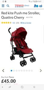 Red kite push me stroller/pushchair from @ Tesco Direct - £45