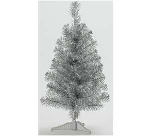 edit 21/2 now 79p _ HOME 2ft Tinsel Christmas Tree - Silver now 79p C+C @ Argos
