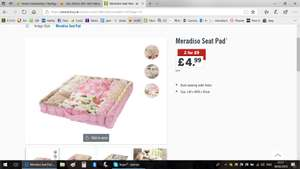 Meradiso Seat Pad £4.99 or 2 for £9 instore at Lidl from 15th Feb