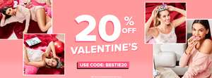 20% off Valentines Fashion with Code BESTIE20 @ Select Fashion