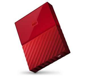 WD My Passport 4TB Portable Hard Drive - Red @ Argos only £90.99