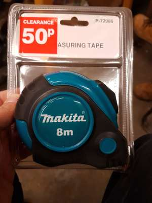 Makita tape measure 8m -  50p in store at B&Q burgess hill