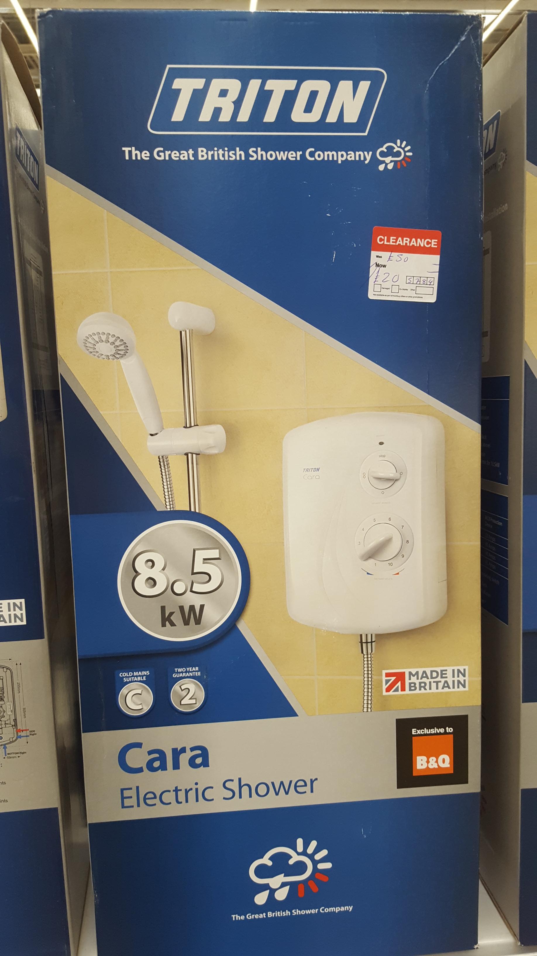 Triton Cara Electric shower 8.5kw - £20 instore @ B&Q - cribbs causeway