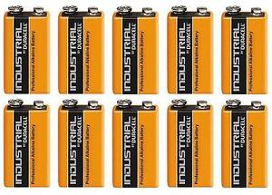 10 Duracell Procell 9V Alkaline 9 V Block Battery PP3 £9.89 @ kvjdeals / Ebay
