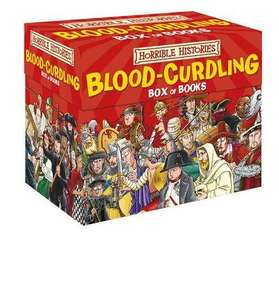 Horrible Histories Blood-Curdling Box Of Books now £16 w/code C+C or Spend £20 for FREE Next Day Delivery @ The Works