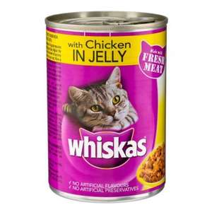 Tin of Whiskas in jelly (and sometimes, Felix) 50p in  PoundLand