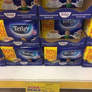 Tetley 120s £1.50 at Poundstretcher