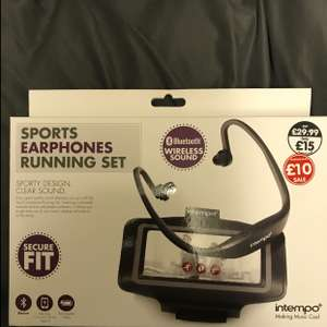 intempo Bluetooth sports headphones and armband rep £29.99 - £10 @ The works instore / online