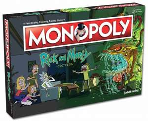 Monopoly Rick and Morty Edition £19.99 now £18.99 Delivered @ Merchoid