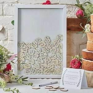 Ginger Ray Boho Wooden Guest Book Frame and Hearts £16 delivered at Hobbycraft (20% off orders today w/code)
