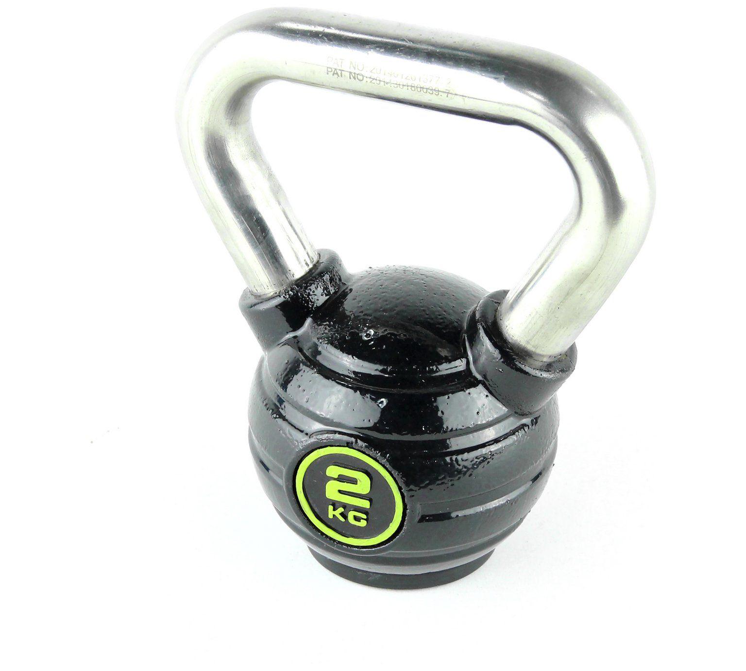 Opti Kettlebell - 2kg Iron with s/steel handle  £4.99 @ Argos