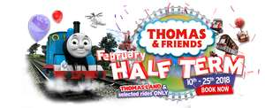 up to 50% off tickets to our Thomas & Friends February Half Term when booking in advance. @ Drayton Manor