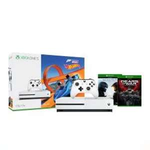 Xbox One X £353.84 / Xbox One X + Fifa 18 + Additional Controller £383.84 / Xbox One S 1TB + Forza Horizon 3 + Halo 5 + Gears Of War £196.95 @ Microsoft Store UK (Via NoKeys)