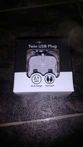 Twin USB plug £2 at poundland