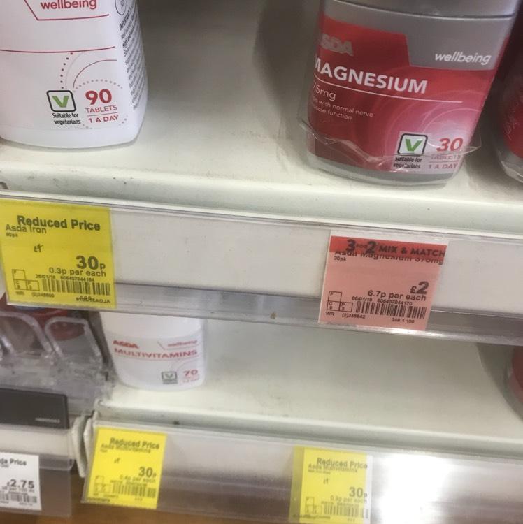 Cheap clearance multi vitamins - 60p instore @ ASDA