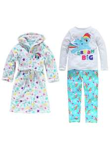 My little pony dressing gown and pyjamas set age 7-8 yrs was £24.99 further added reductions now £11.49 @ argos
