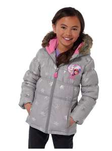 Disney frozen grey fur trim padded hooded coat age 3-4 was £24.99 now £9.99 @ argos