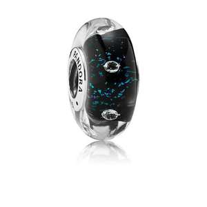 Midnight Blue Fizzle Murano Charm £15 / £20 delivered @ pandora