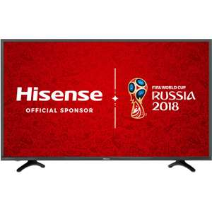 "Hisense H49N5500 49"" Freeview HD and Freeview Play Smart 4K Ultra HD with HDR TV - Black - B Rated Energy £299 (after code) @ AO"