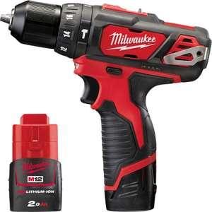 Milwaukee 12v Drill/Driver, 2x 2ah Batteries, Case, Charger, £86 (ish) with code @ Toolstation