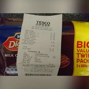 Mcvities milk chocolate digestive 2x360g 1.64 at Tesco