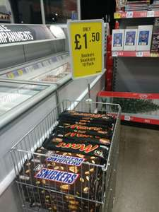 Snickers/Mars 10 bar pack for £1.50 in Iceland