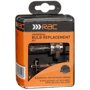 B & M RAC emergency bulb kit now £2