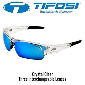Tifosi Lore Crystal Clear / Tifosi Lore Gloss Black  - 3 Lens Set Sunglasses £24.99 Delivered @ CycleStore