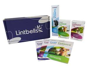 Lintbells Supplements Value Pack - For Dogs - (Yumove Tablets 60, Yumega Itchy Dog 250ml, YuDigest Tablets 60), £5.71 (Prime), £9.70 (Non-Prime) *Now On Add-On* @ Amazon