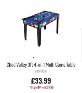 Chad Valley 3ft 4-in-1 multi games table £33.99 @ Argos