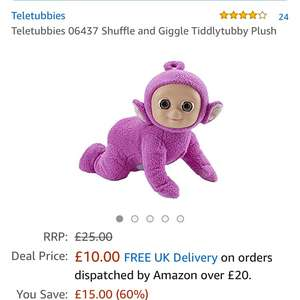 Teletubbie shuffle and giggle £10 Prime / £14.75 delivered @ Amazon