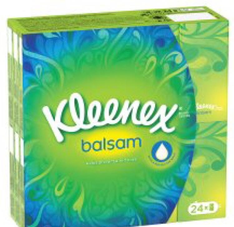 Kleenex Balsam 24 Pocket Tissue £1 @ Tesco