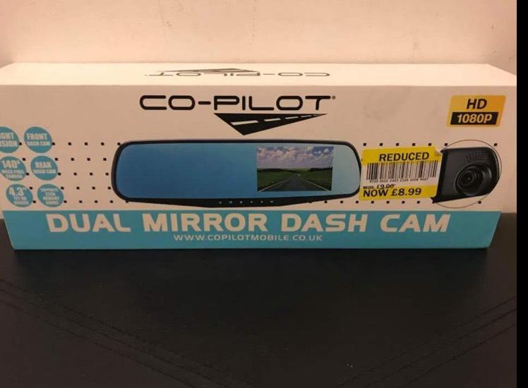 Co-Pilot Dual Mirror Dash Cam - £8.99 instore @ TESCO